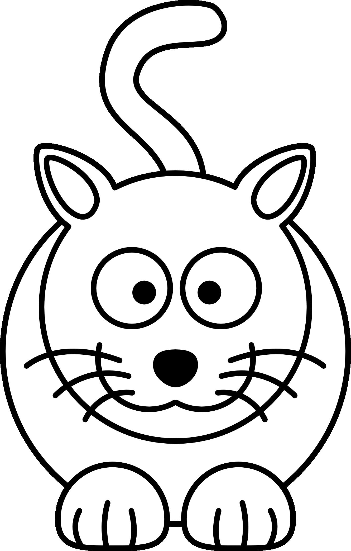 Coloriage chat noir et blanc