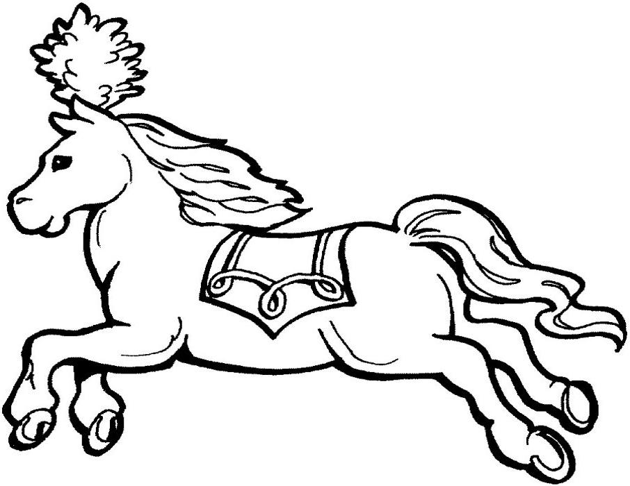 Coloriage cheval cirque 1001 animaux - Coloriage de cirque ...