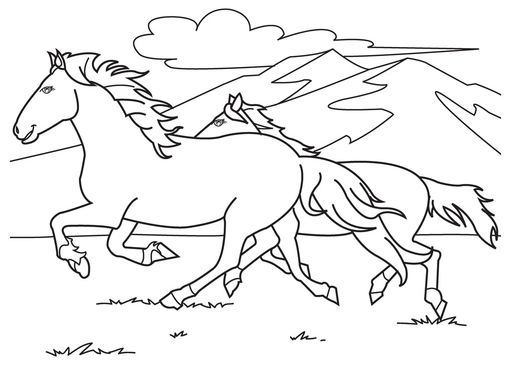 Coloriage cheval de course a imprimer