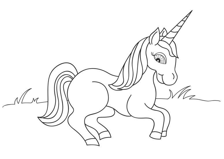 Coloriage cheval licorne imprimer