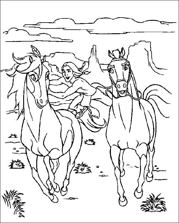 Coloriage cheval spirit