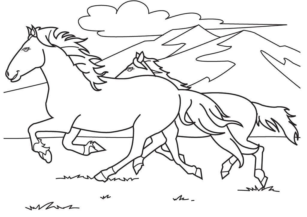 Coloriage chevaux de course a imprimer