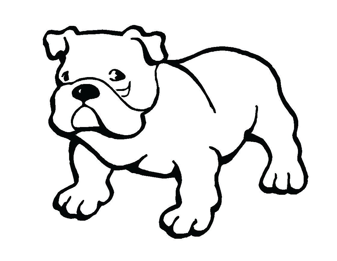 Coloriage chien bulldog 1001 animaux - Coloriage de chien ...