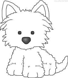 Coloriage chien westie