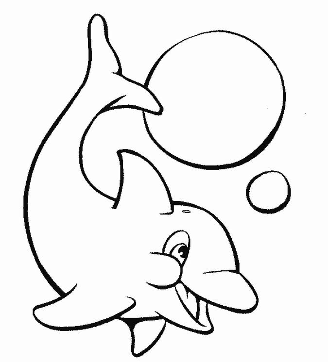 Coloriage dauphin facile