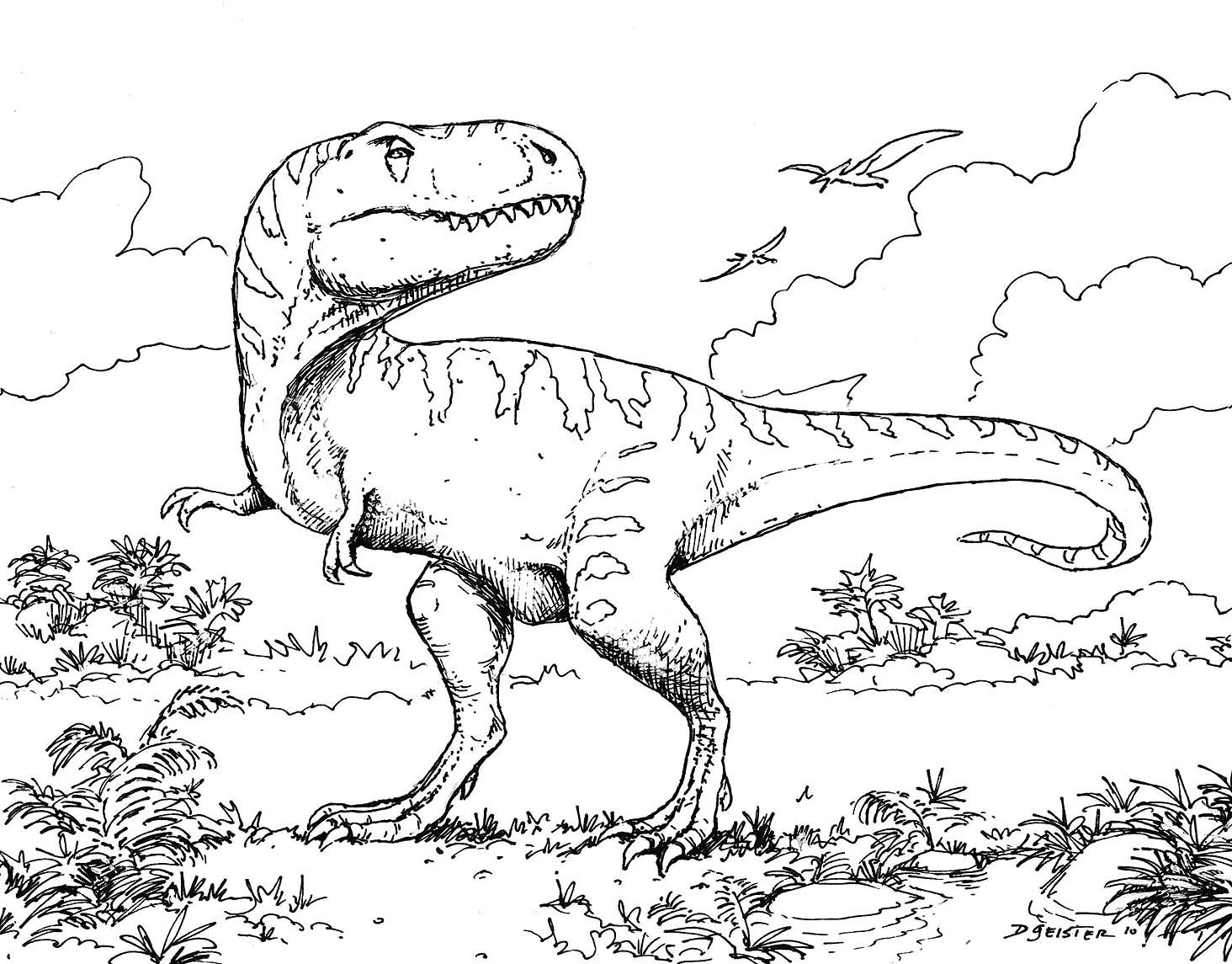 Coloriage de dinosaure a imprimer 1001 animaux - Dessins de dinosaures ...
