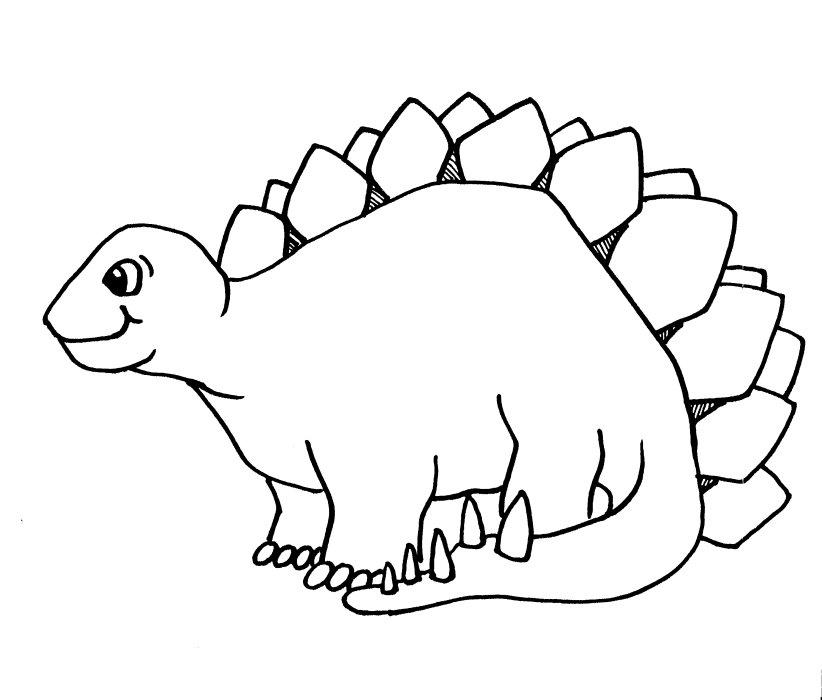 Coloriage dinosaure gentil