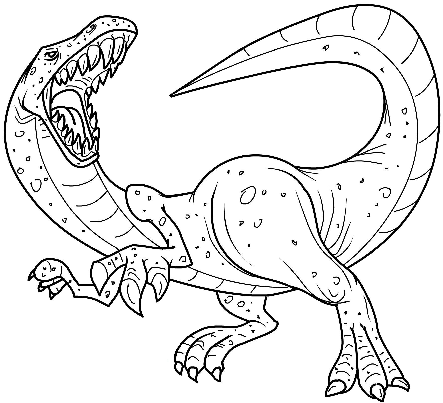 Coloriage dinosaure imprimer gratuit