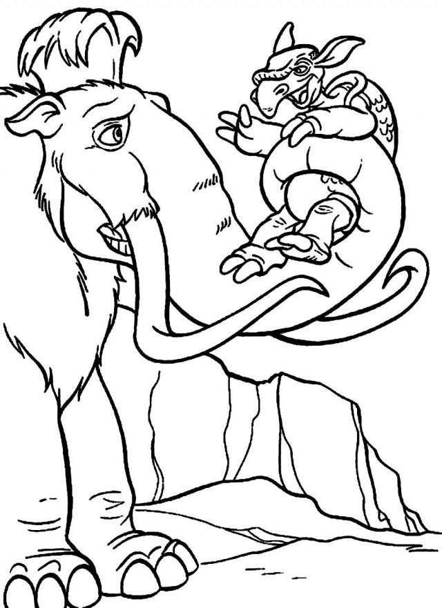 Coloriage dinosaure l'age de glace
