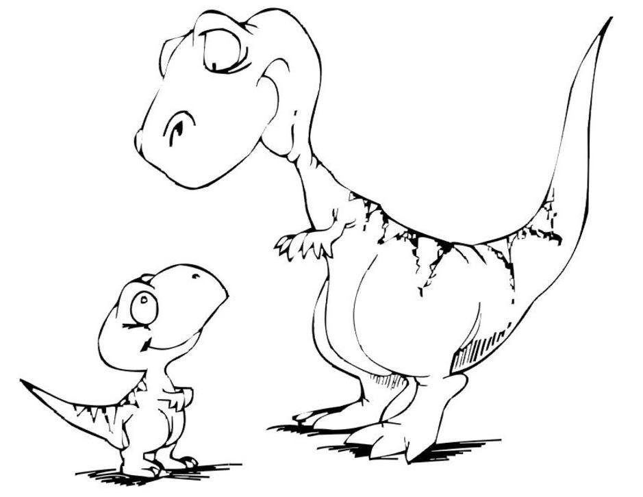 Coloriage dinosaures a imprimer