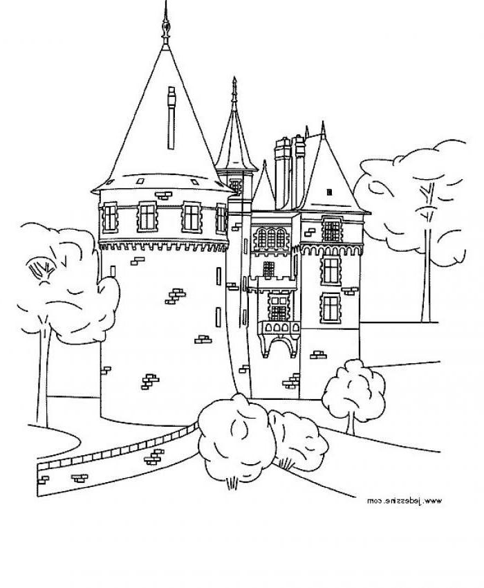 Coloriage en ligne chateau fort