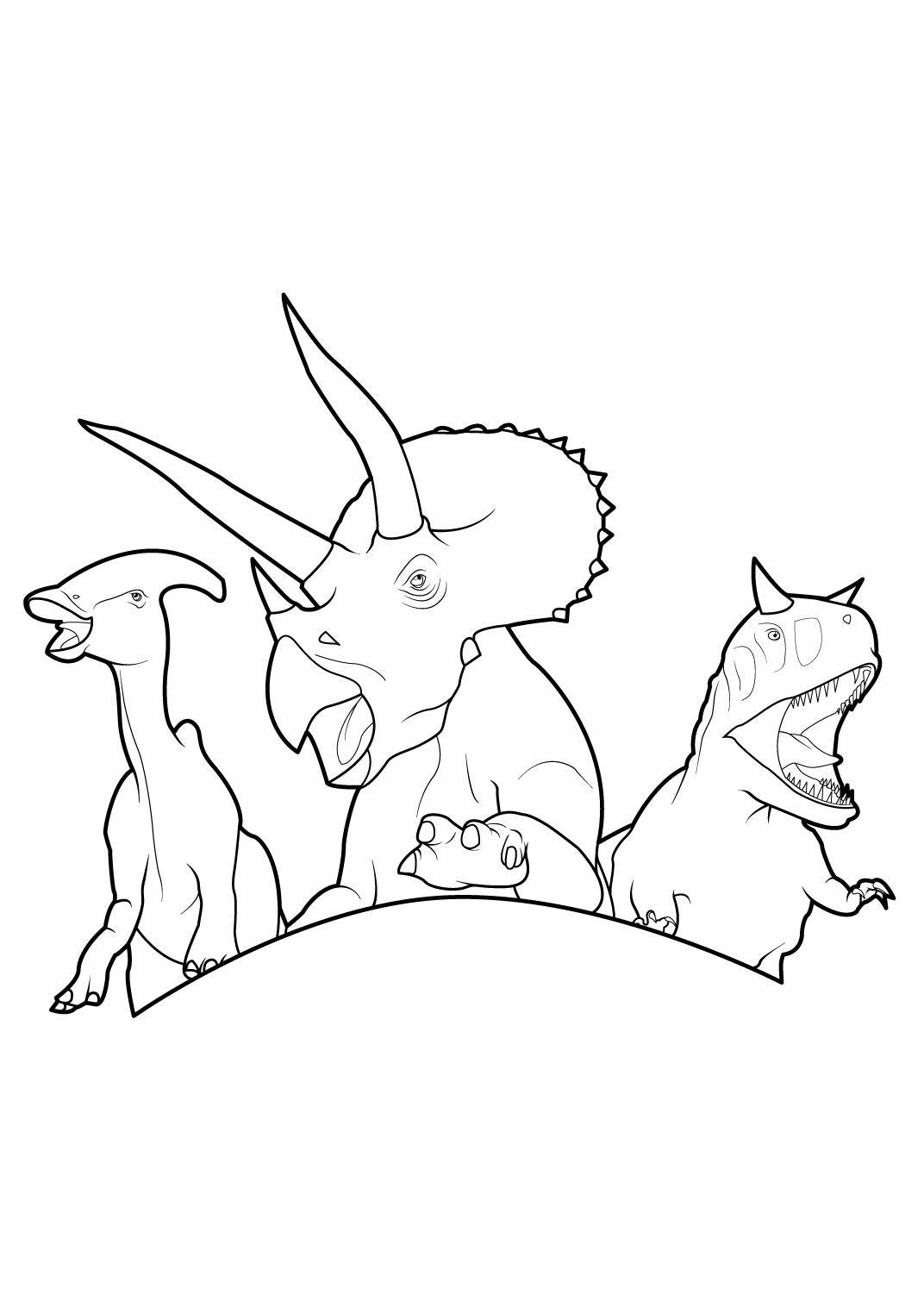 Coloriage en ligne dinosaure king