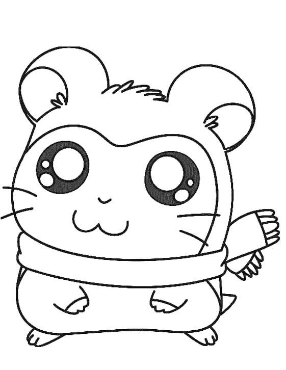 Coloriage hamster hamtaro - 1001 Animaux
