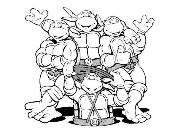 Coloriage a imprimer tortues ninja gratuit