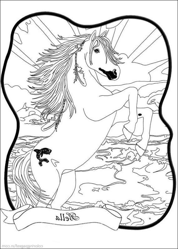Coloriage magique cheval