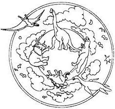 coloriage mandala dinosaure - 1001 animaux