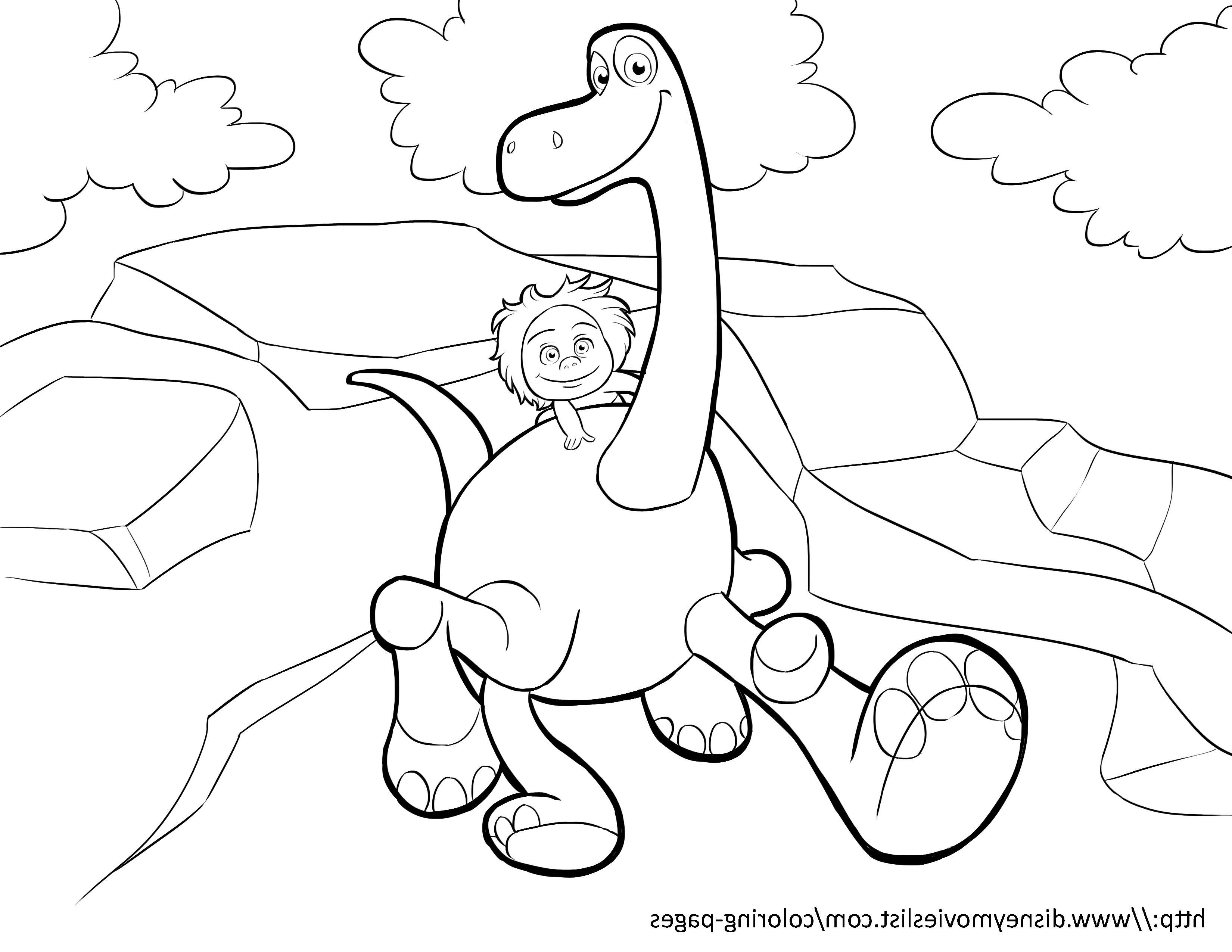Coloriage samy dinosaure