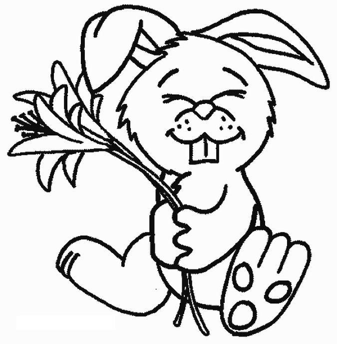 Coloriages de lapins rigolos